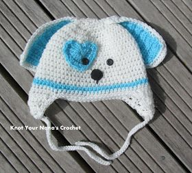 Crochet Pattern Dog Hat Free : valentines-dog-crochet-free-hat-earflap Free Crochet ...
