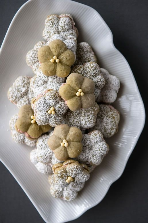 Admire Cherry Blossoms From Afar With Matcha Almond Cookies
