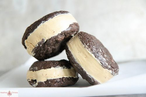 Chocolate Coffee Ice Cream Sandwiches via @Heather Christo