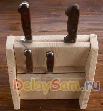 Подставка для ножей своими руками из подручных материалов