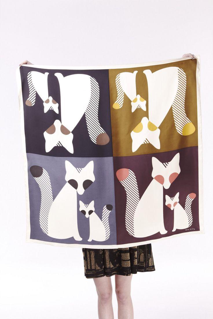 FW 12 fox print scarf