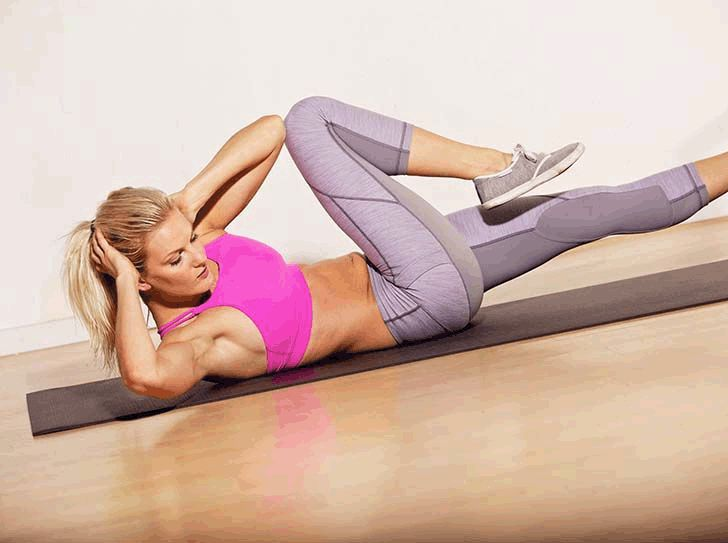 Example of how to do crunches