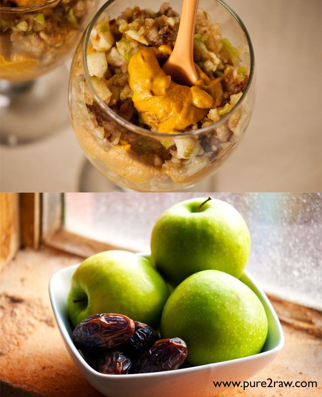 layered apple pie & pumpkin pie mousse #raw #vegan #eat #fitfluential