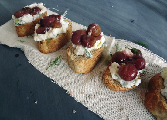 Roasted Grape + Ricotta Crostini - yum! by panda_head, via Flickr