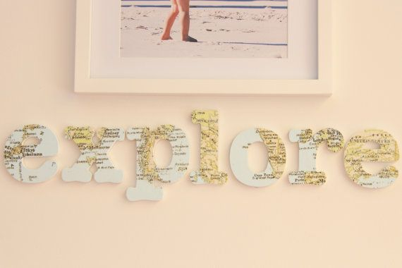 fabric covered letters explore the world world map fabric used