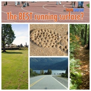 The BEST running surface is...