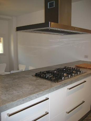 Top cucina ceramica: Piano cucina cemento resina