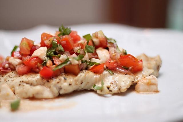 grilled chicken bruschetta | Low Sodium | Pinterest