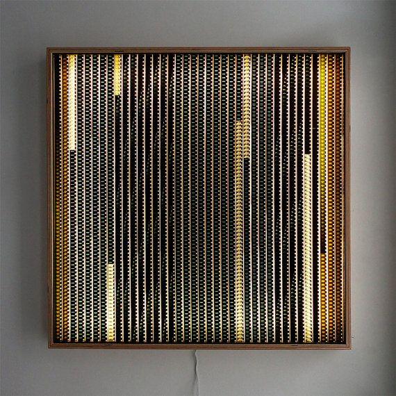 Large LIGHTBOX 26 Vintage 16mm Filmstrip Collage On Acrylic Wall