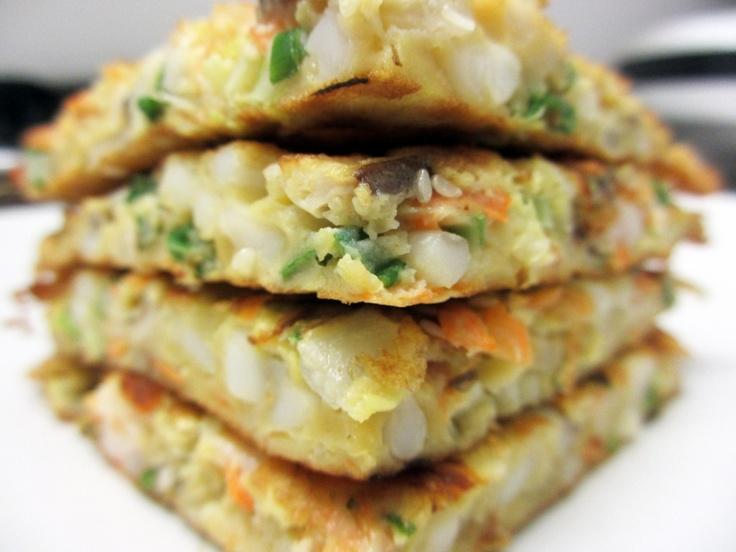 Okonomiyaki = a savory Japanese pancake Okonomiyaki was my first meal ...