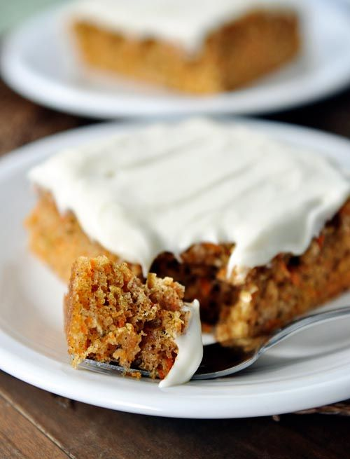 Carrot Sheet Cake with Whipped Cream Cheese Frosting | Recipe