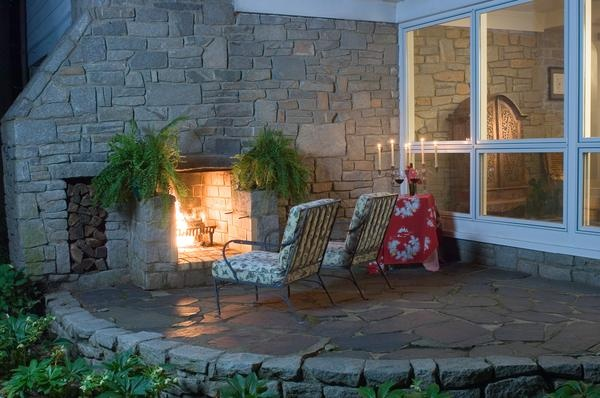 how to reface a brick fireplace with cultured stone