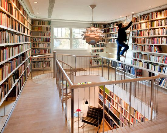 Cool Library Shelves Also Library Ladder Charming Bookshelf In Home