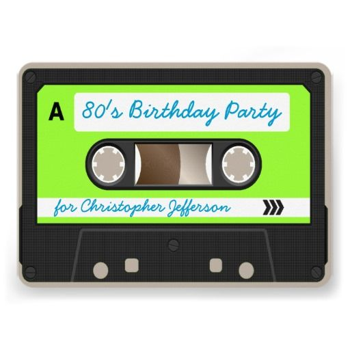 Cassette Tape Invitation with good invitation sample