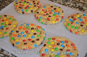 chicken babies giant oatmeal chocolate chip m amp m cookies