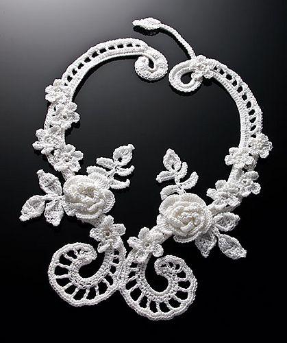 Irish Filigree Crochet Necklace Free Pattern : Pin by Ragena Barker on Yarn n Yarny Thangs Pinterest