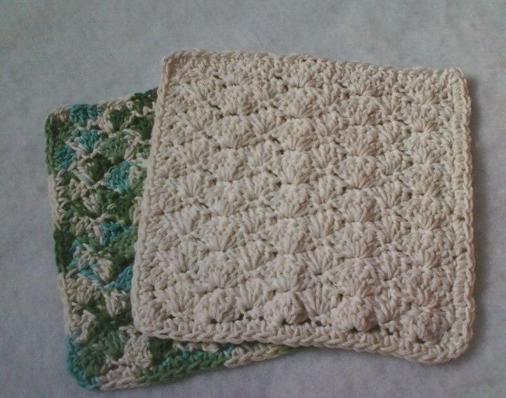 ... dishcloth and a simple shell stitch, but apparently pinterest needs