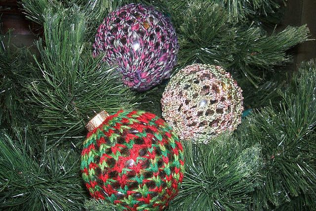 Free Crochet Patterns For Christmas Ball Covers : Pin by Sarah Weinstein on Knitting & Crochet: Home Pinterest