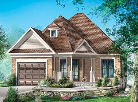 Cute Small House Plan With Basement 910 Sq Ft