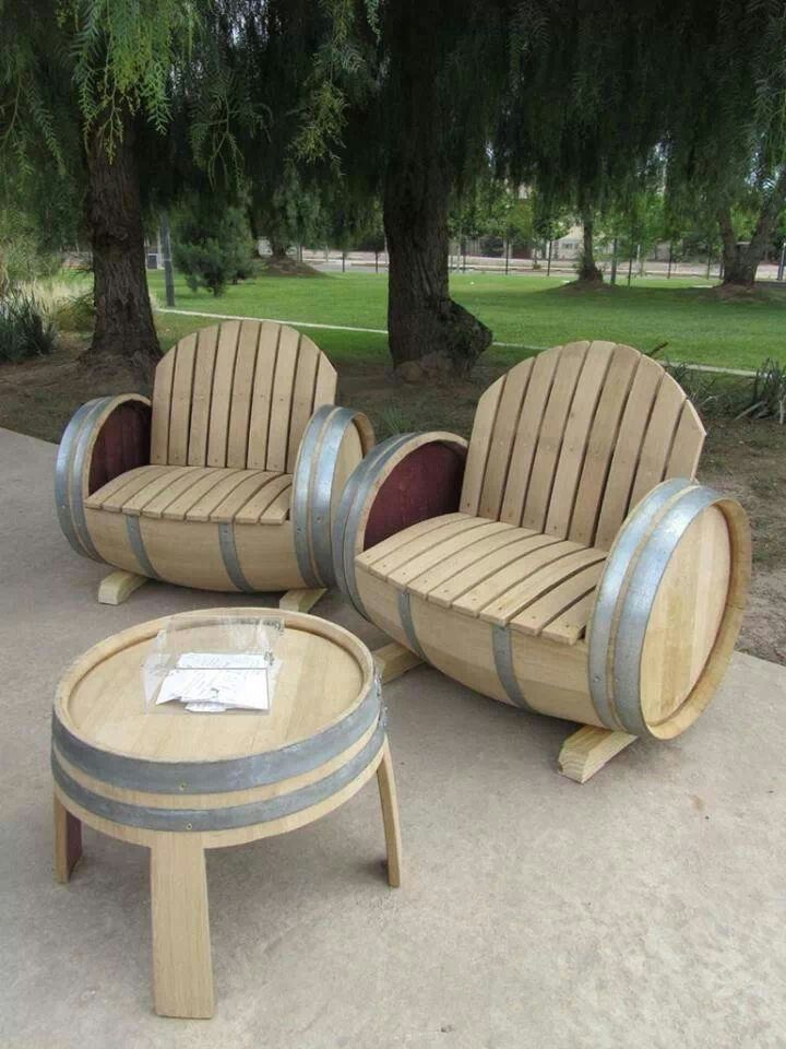 Reused Barrel Chairs