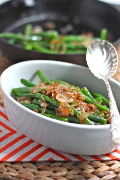 Green Beans with Caramelized Shallots   Recipe