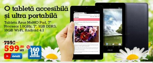 Tableta ieftina Asus MeMo Pad cu Android 4.1 on http://www.fashionlife.ro