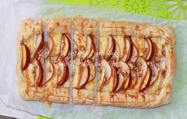 Brie and Pear Tart with caramel