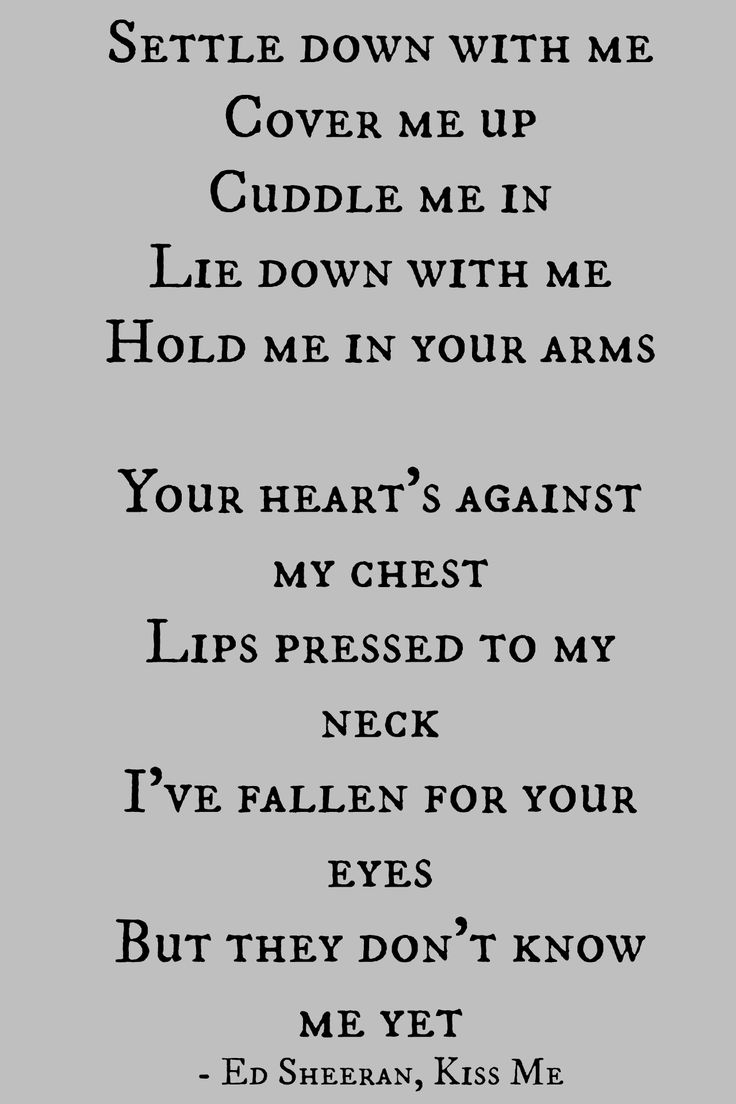 Ed Sheeran, Kiss Me | ...