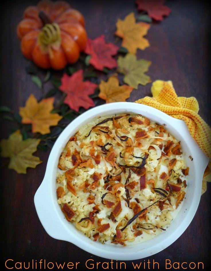 Cauliflower-Bacon Gratin Recipe — Dishmaps