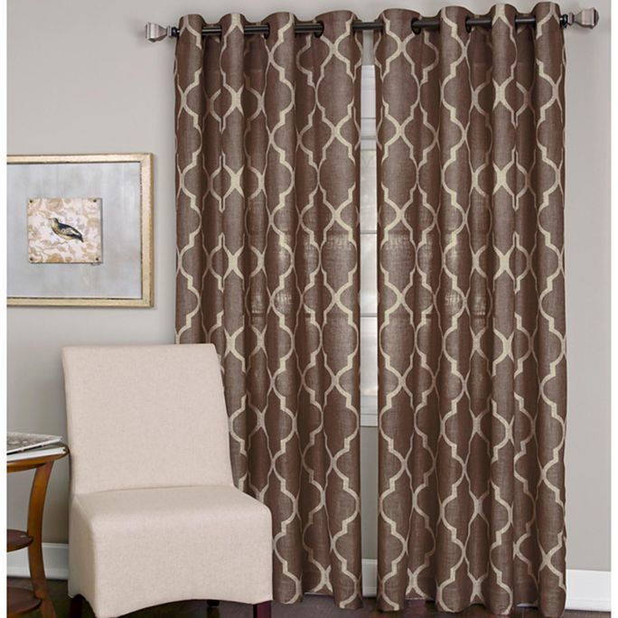Elrene medalia grommet top curtain panel for the home for Jcpenney living room curtains