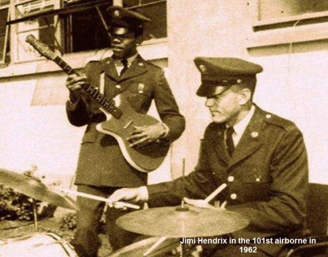 Jimi Hendrix in the army. | Media | Pinterest