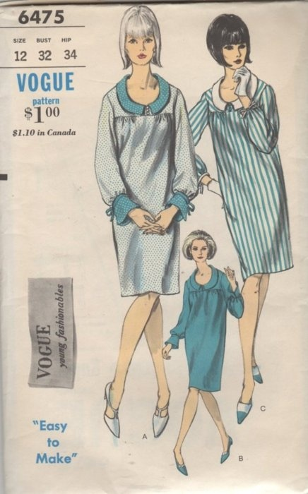 Vogue 1960s fashion - my sister had a dress using this pattern