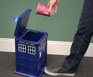 Doctor Who TARDIS Trash Can $89.99 on ThinkGeek