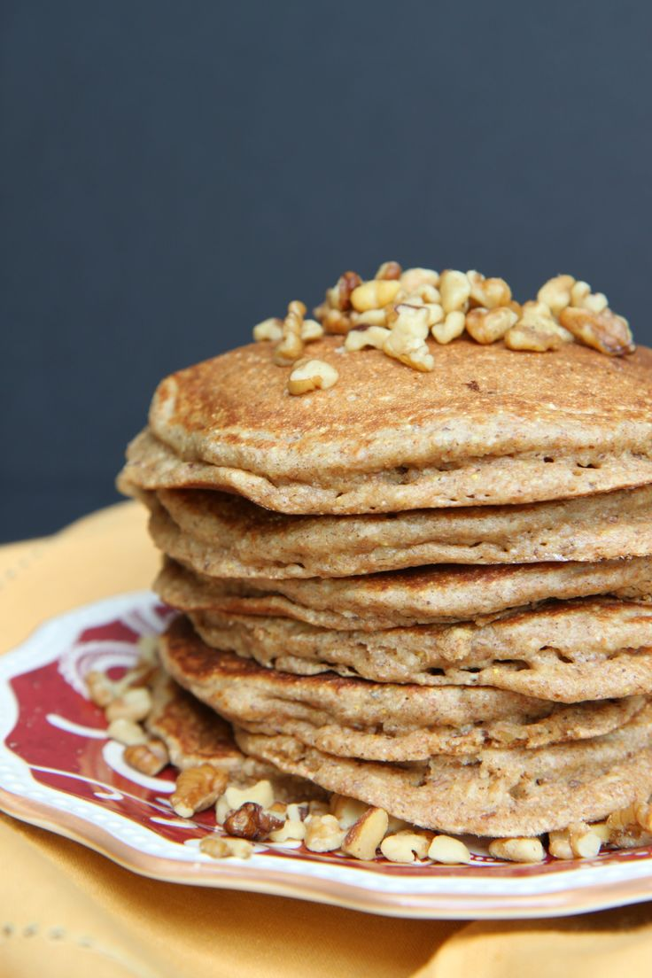 Grain and Nut Whole Wheat Pancakes - great healthy school year ...