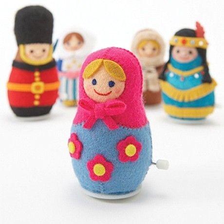 DIY Войлок Матрешка Ветер куклу