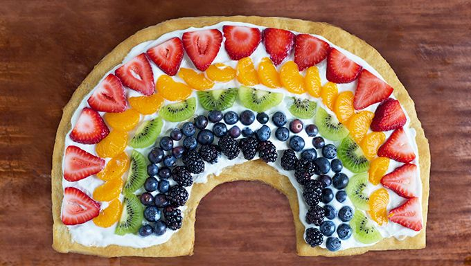 Rainbow Fruit Pizza | Recipe