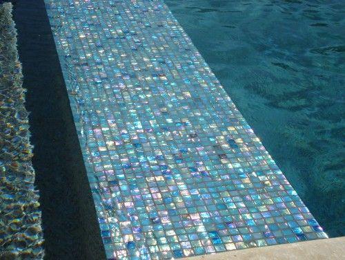 Glass mosaic pool tile swimming pool designs pinterest - Swimming pool glass tile design ...