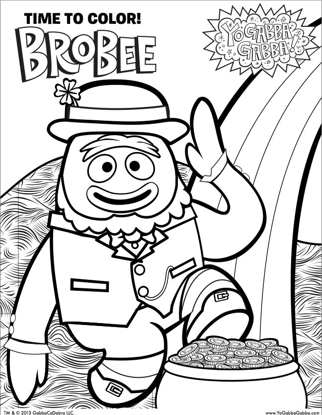 brobee coloring page