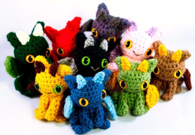 Cute Dragon Amigurumi Crocheted Toy! sewing Pinterest