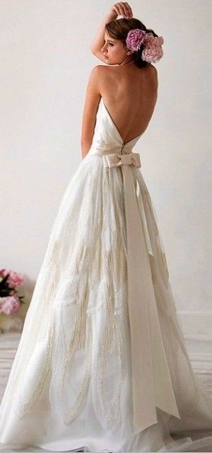 Backless strapless wedding dress soirees and nuptials for Strapless backless wedding dress