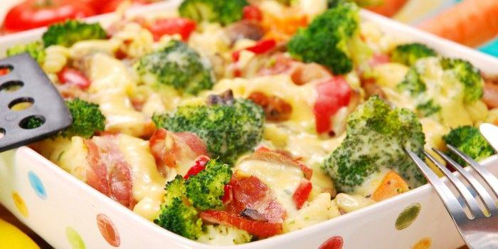 Broccoli Bake with ham and eggs
