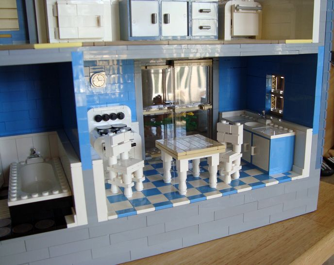 Lego Kitchen Fascinating With LEGO Victorian House Photo