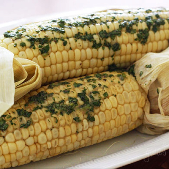Roasted Corn with Cilantro Butter | Recipe