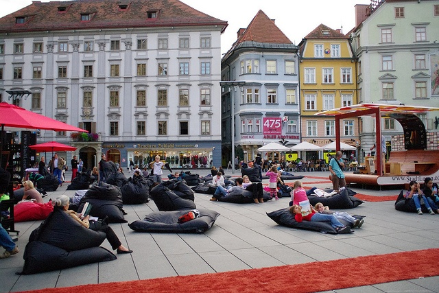 Stadtlesen in Graz: four days dedicated to citywide reading. Grab a beanbag and a book and plop down... in the middle of the city. Awesome.