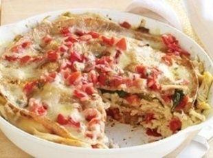 Chicken Tortilla Pie Add corn and black beans