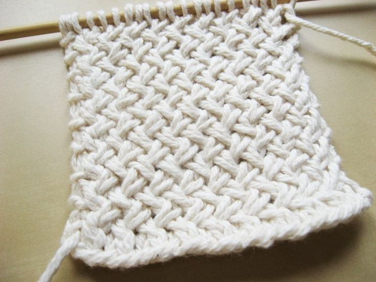 Diagonal Basketweave Knitting Pattern In The Round : Diagonal Basketweave Knitting Pattern