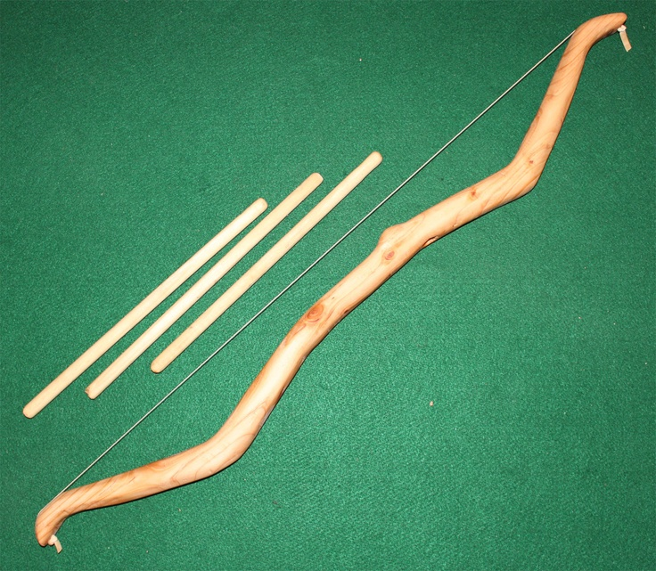 Hand crafted wood toy bow and arrow via etsy for Handcrafted or hand crafted