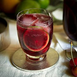 Ruby Red Cherry-Citrus Sangria #drinks #cocktails #drinkrecipes