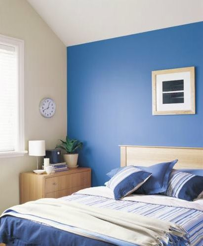 blue cream and white bedroom paintright colac blue interior colour. Black Bedroom Furniture Sets. Home Design Ideas