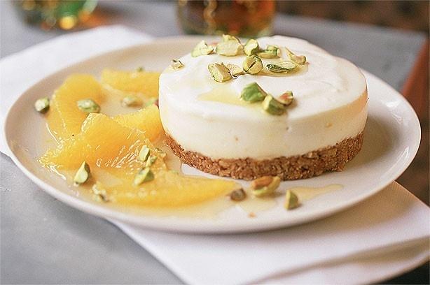 Orange juice pistachio cheesecake | Desserts of Deliciousness | Pinte ...